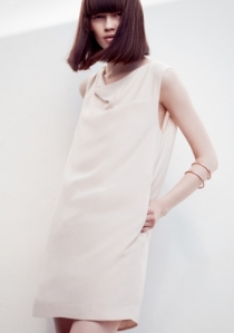 SLEEVELESS DRAPED DRESS-OTHER STORIES